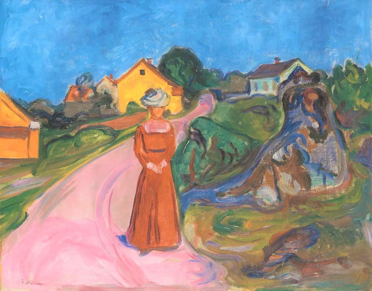 Edvard Munch | Frau im roten Kleid | um 1902/03 | Pinakothek der Moderne München